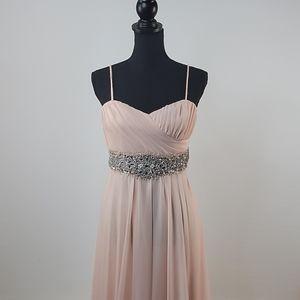 My Michelle Pink Gem Long Elegant Dress